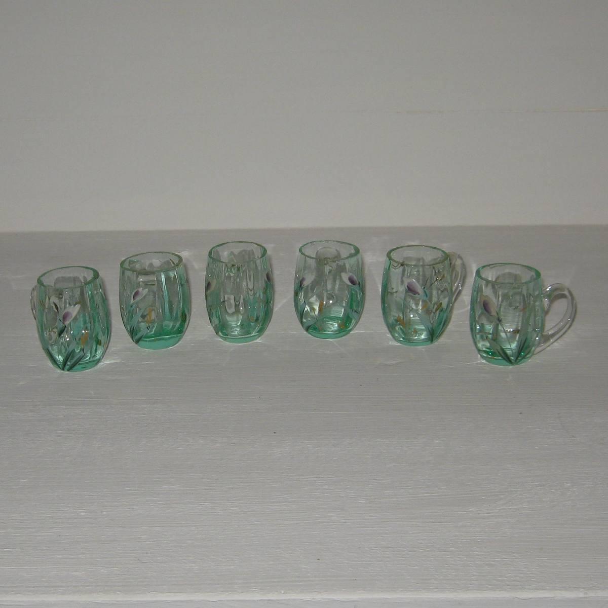 6 verres emailles chopes 1