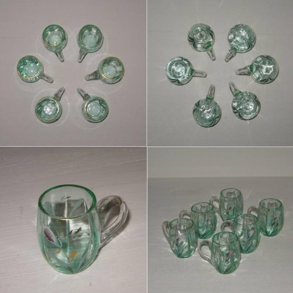 6 verres emailles chopes 2