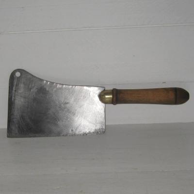 Feuille de boucher ancien couperet de boucher ancien