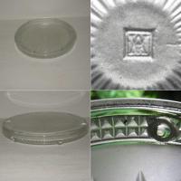 Ancien dessous de plat art deco en verre moule presse verlys 2