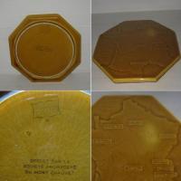 Ancien dessous de plat carte de france des fromages 2