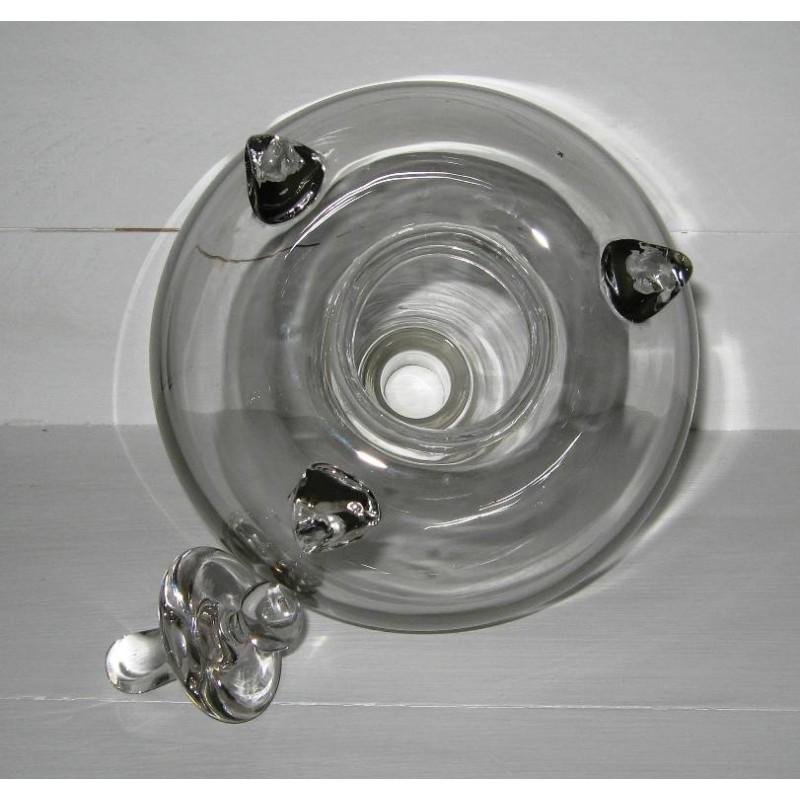 Ancien gobe mouches complet en verre souffle 4