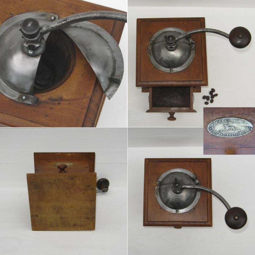 Ancien moulin a cafe en bois de marque peugeot freres valentigney doubs 3