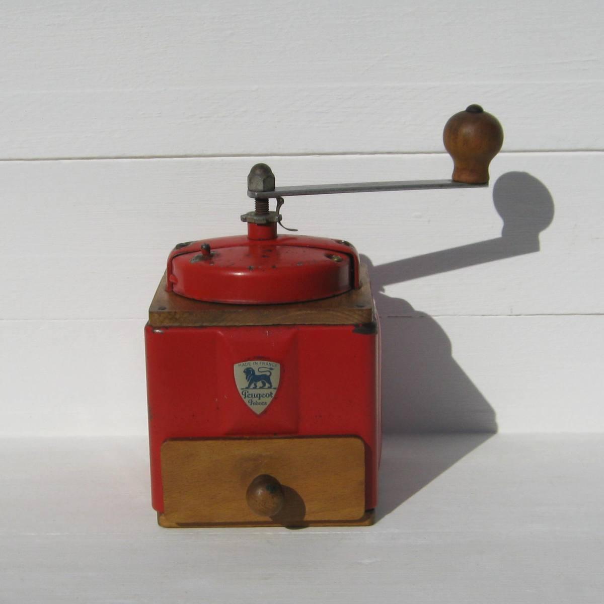 Ancien moulin a cafe peugeot freres rouge 1