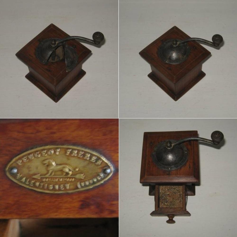 Ancien moulin a poivre en bois de marque peugeot freres valentigney doubs modele depose 3