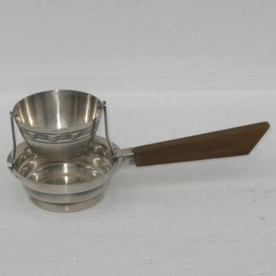 Passe-thé ancien en métal argenté art déco