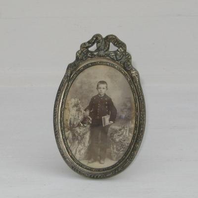 Cadre à photo ancien noeud Louis XVI