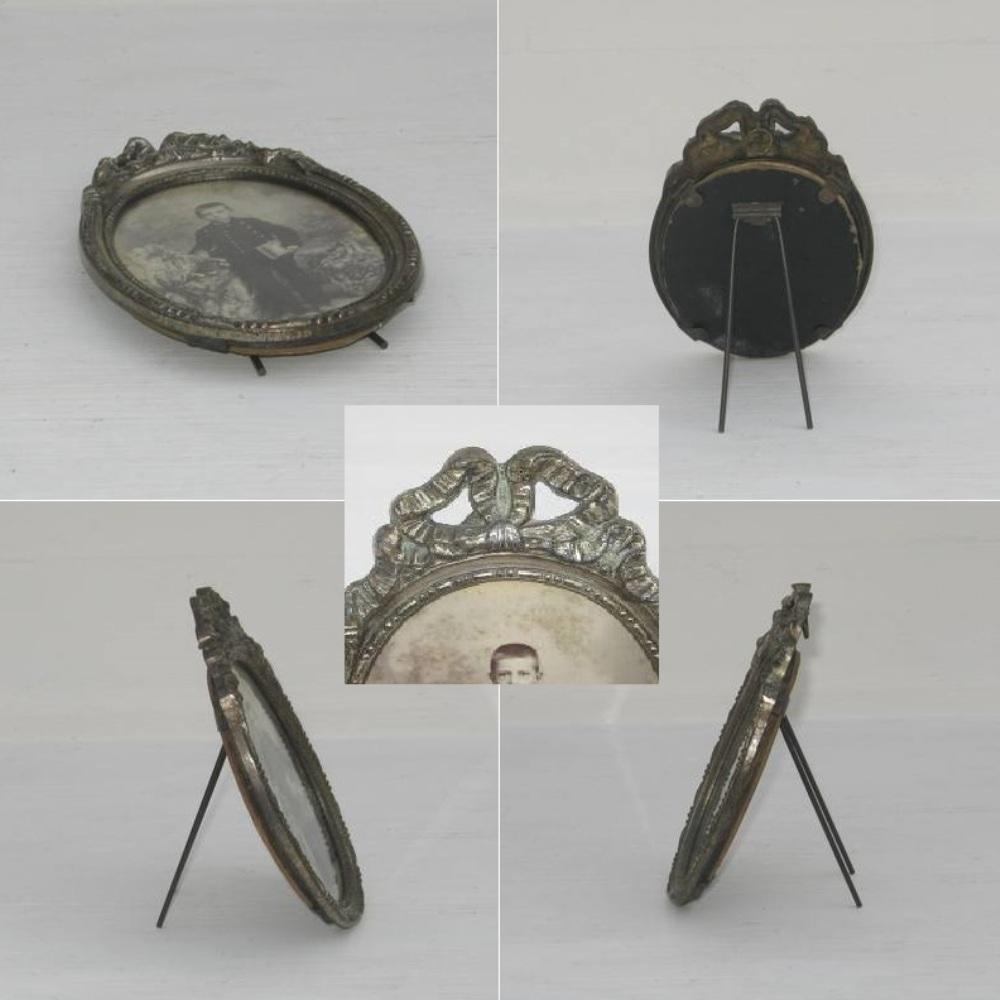 Ancien petit cadre ovale style louis vi 2