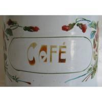 Ancien pot a epices en tole emaillee cafe decor pensees 6