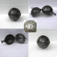 Ancienne boule a riz metal etame 2