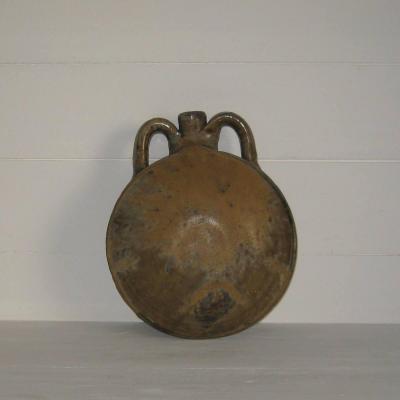 Gourde ancienne en grès de Puisaye poterie