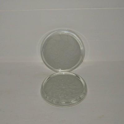 Deux anciens dessous de bouteille carafe en verre moulé pressé art déco