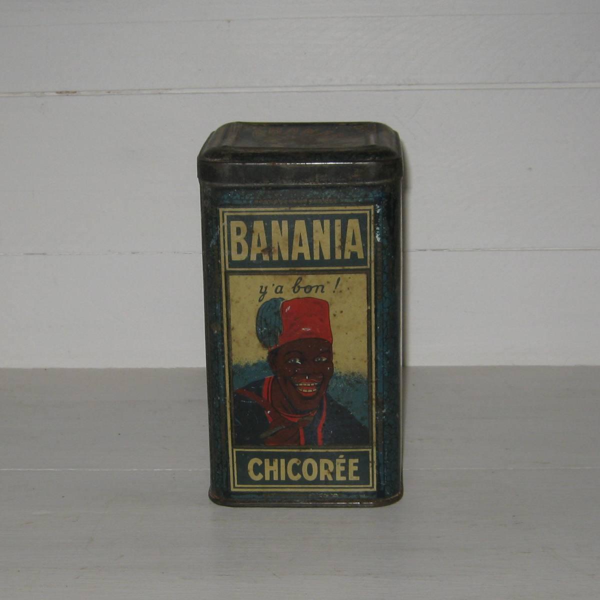 Boite en tole banania chicoree 1