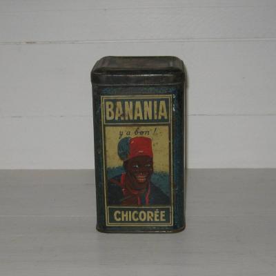 Boite en tôle Banania 1kg marquée chicorée