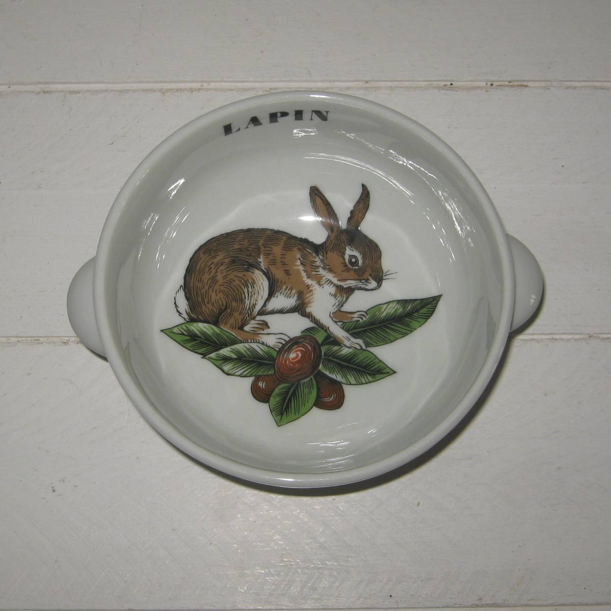Bol a oreilles porcelaine d auteuil lapin 1