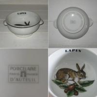 Bol a oreilles porcelaine d auteuil lapin 2