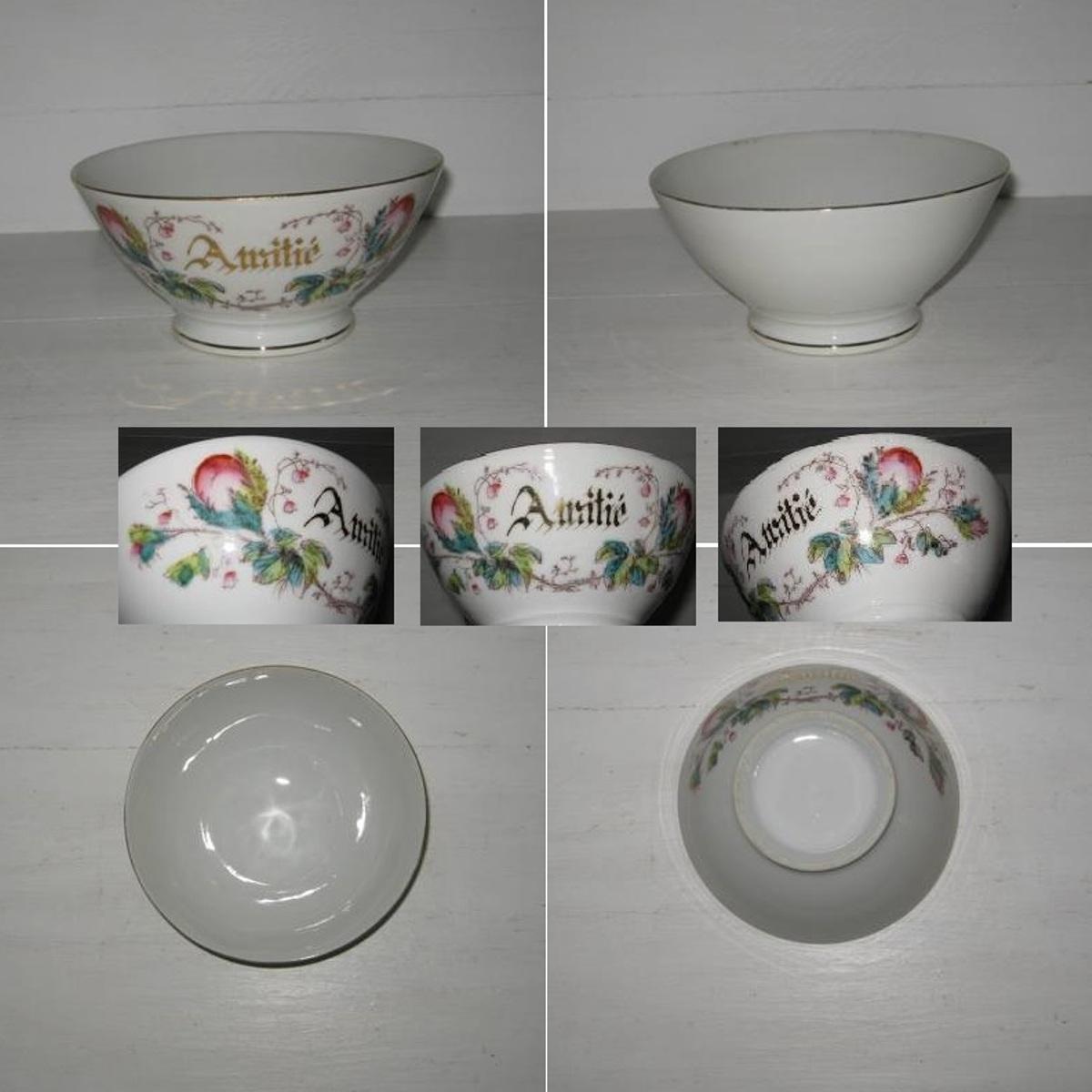 Bol porcelaine amitie roses 2