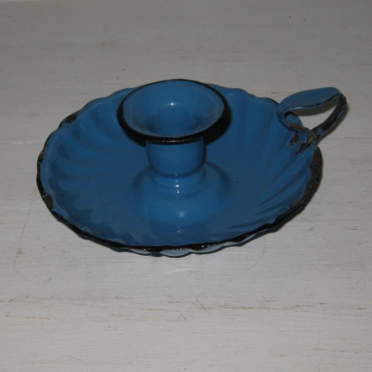 Bougeoir bleu 1