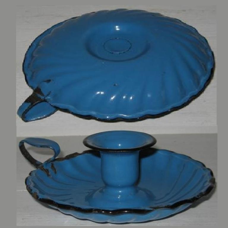 Bougeoir bleu geo 2
