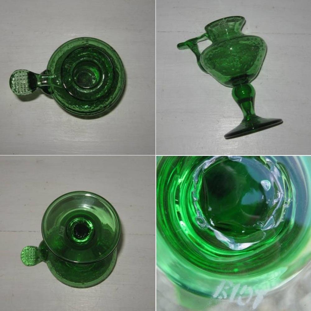 Bougeoir verre vert biot 2b