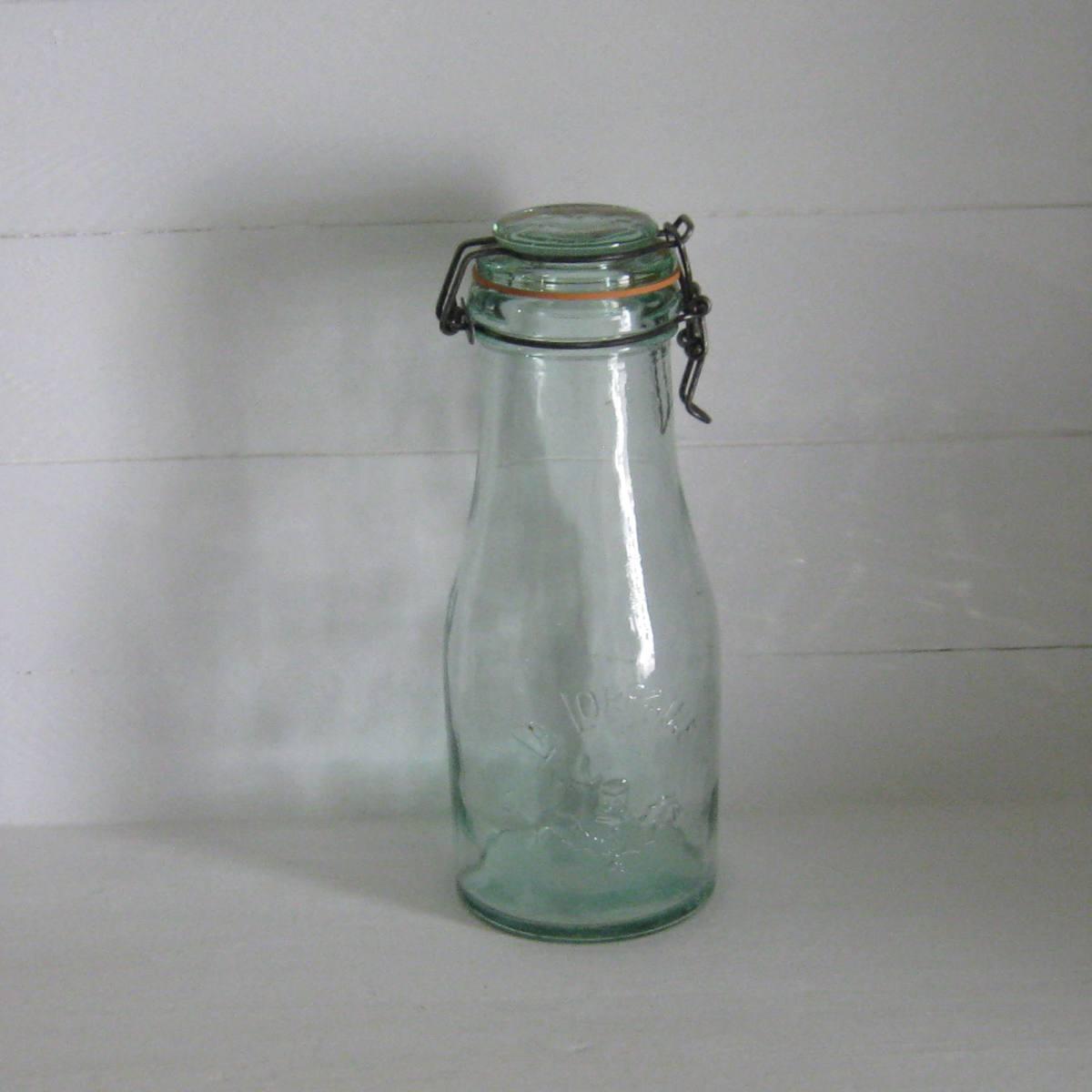 Bouteille bocal ancien en verre la lorraine 1 5 l 1