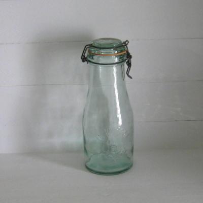 Bouteille bocal ancien en verre La Lorraine 1,5 L