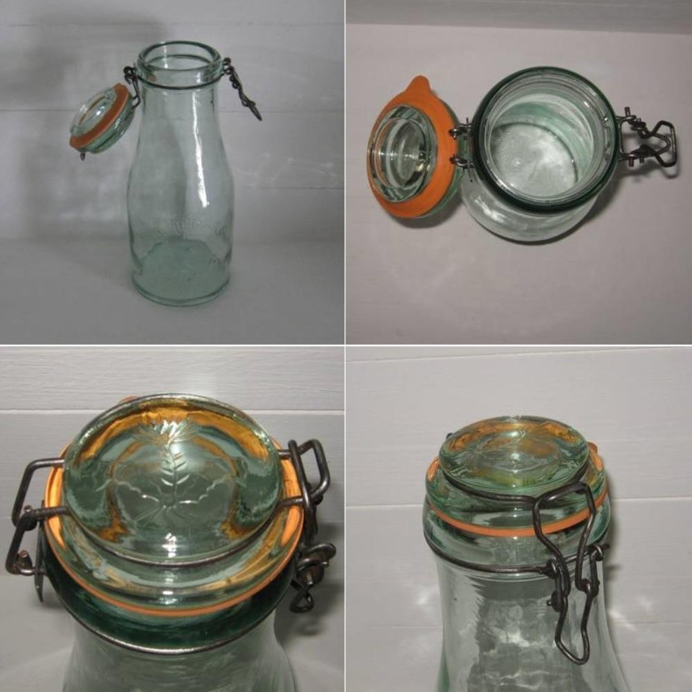 Bouteille bocal ancien en verre la lorraine 1 5 l 2