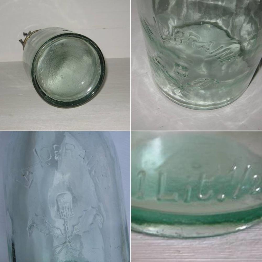 Bouteille bocal ancien en verre la lorraine 1 5 l 3