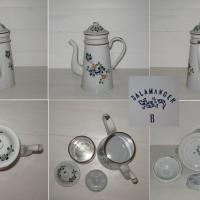 Cafetiere emaillee blanche a fleurs 2