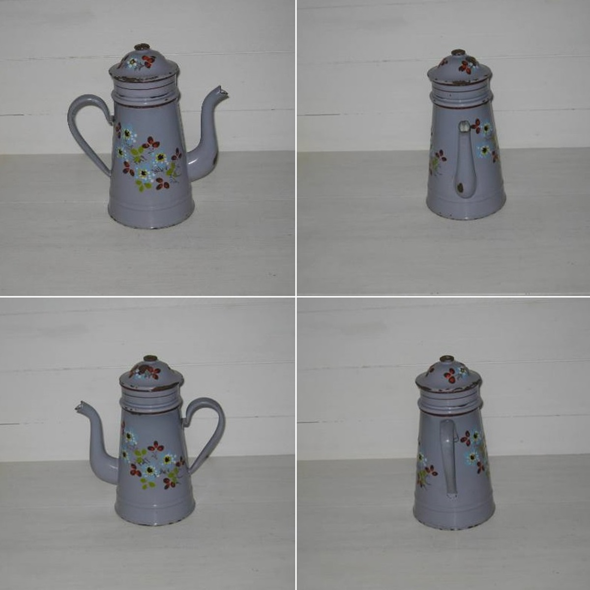Cafetiere emaillee fond mauve 2