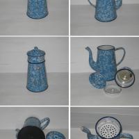 Cafetiere marbree bleue et blanche 2