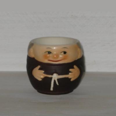 Coquetier moine en céramique Allemande Goebel