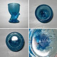 Coquetier poussin verre bleu 2