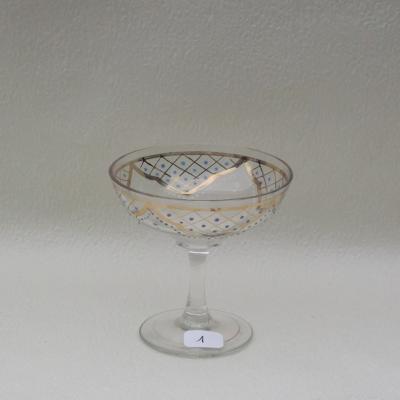 Coupe à champagne en cristal émaillé (1)