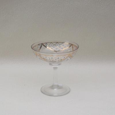 Coupe à champagne en cristal émaillé (2)