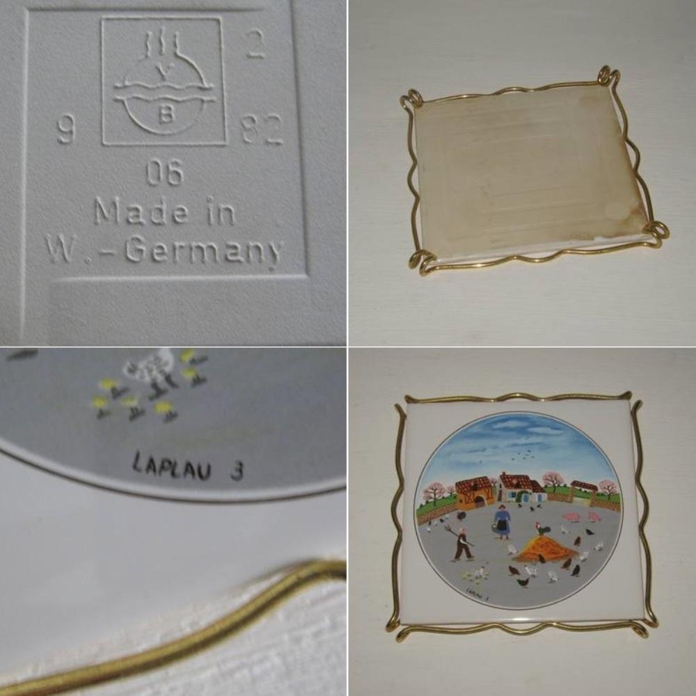 Dessous de plat villeroi et boch decor naif laplau 2