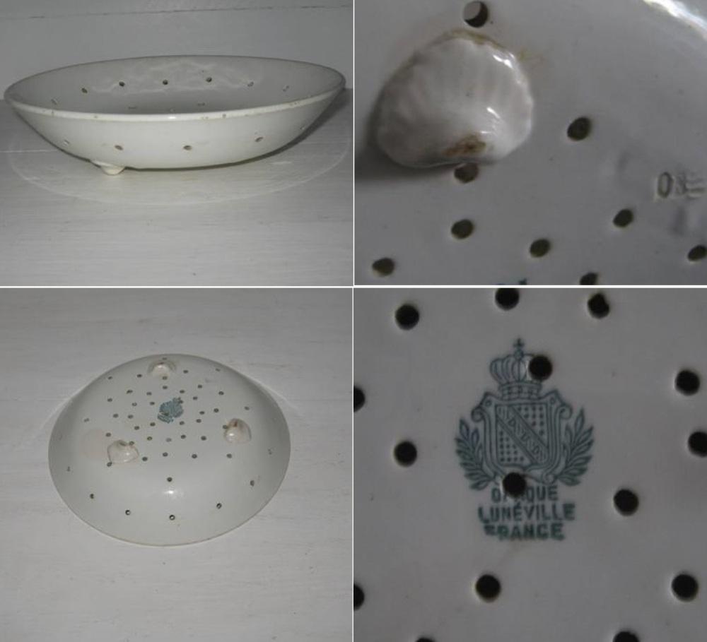 Faisselle blanche luneville 2