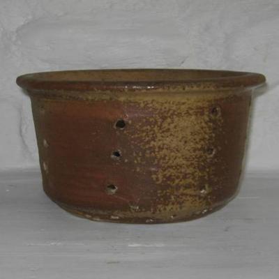 Ancienne faisselle, égouttoir à fromage grès de Puisaye