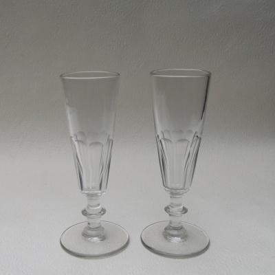 Deux flûtes à champagne XIXème