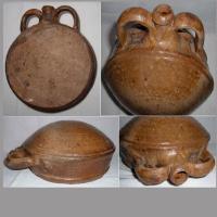 Gourde ancienne en gres de puisaye poterie 8