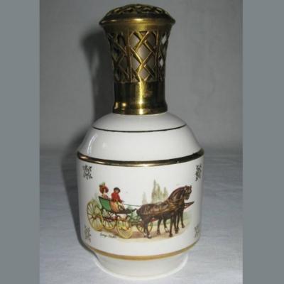 Lampe berger ancienne de St Meen à décor de calèches George Stubbs John Ferneley