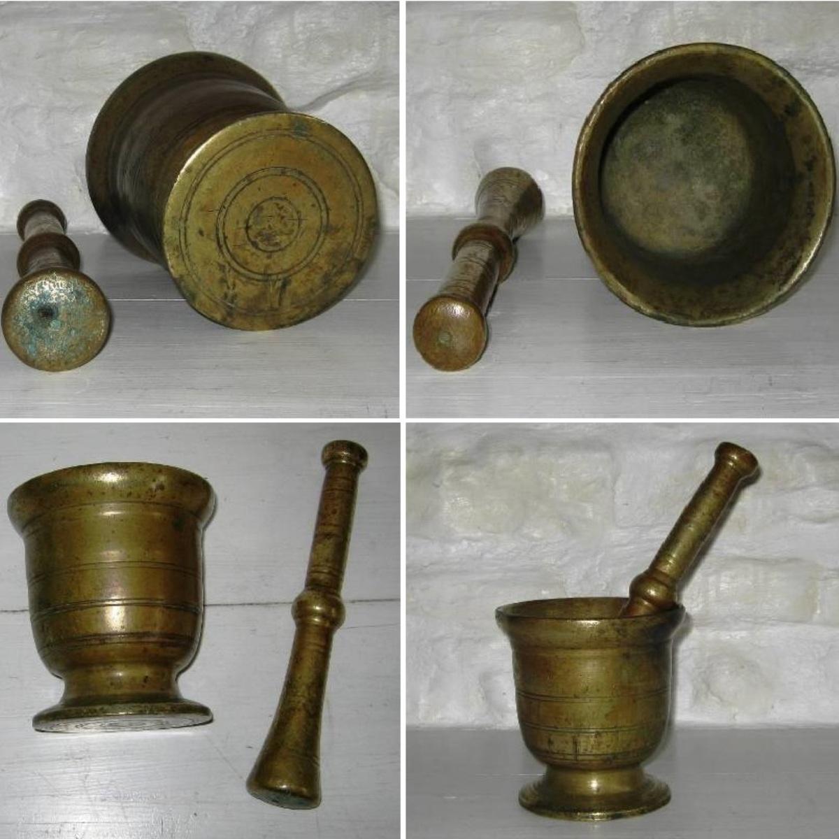 Mortier et son pilon en bronze f