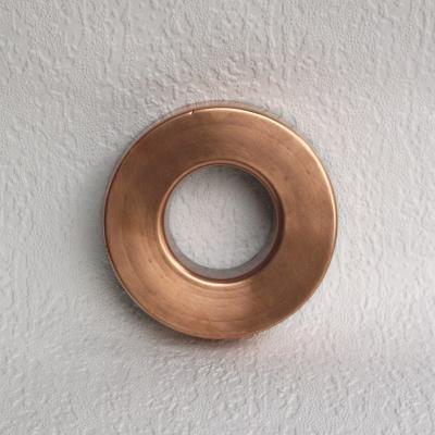 Ancien moule à savarin en cuivre forme couronne (1)