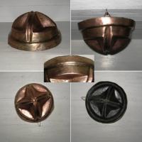 Moule en cuivre martele et etame 2