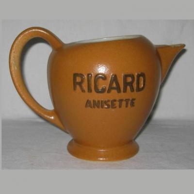 Pichet de bistrot ancien en faïence Ricard Anisette