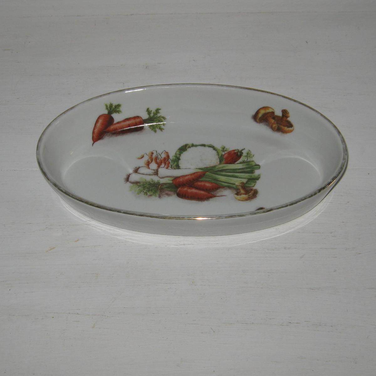 Plat a gratin decor legumes 1
