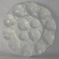 Plat a huitres barbotine blanche gien france 1