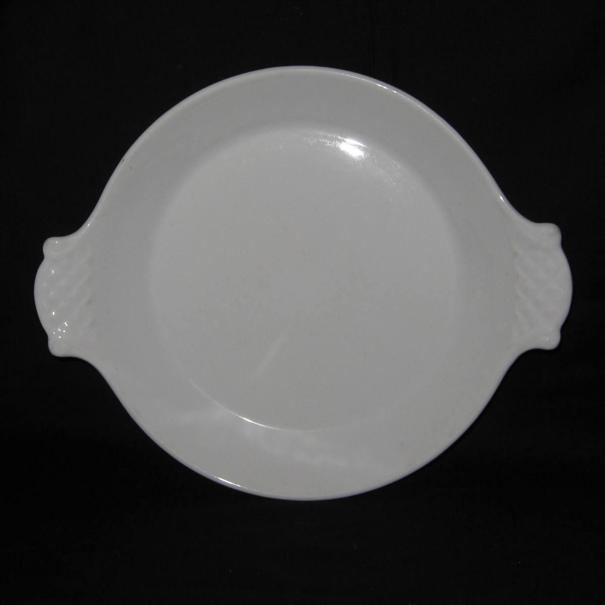Plat a oreilles en porcelaine blanche 1
