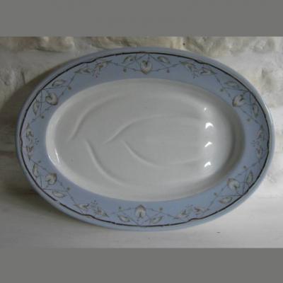 Grand plat à roti Creil Montereau B & Cie M Déposé