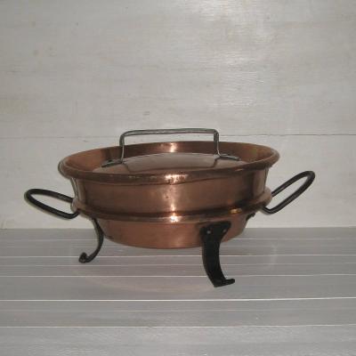 Tourtière en cuivre XVIIIème